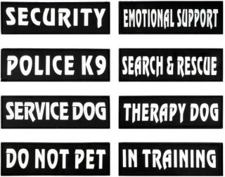 Dog Patches For Working & Service Dogs (Pair)