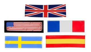 National Flag Dog Badges