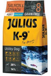 Julius K9 Dry Dog Food - Salmon & Spinach - Adult